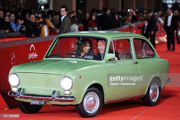 Actors Valeria Golino and Luca Zingaretti attend the 'La Kryptonite Nella Borsa' And 'Dead Man Talking' Premiere during the 6th International Rome...