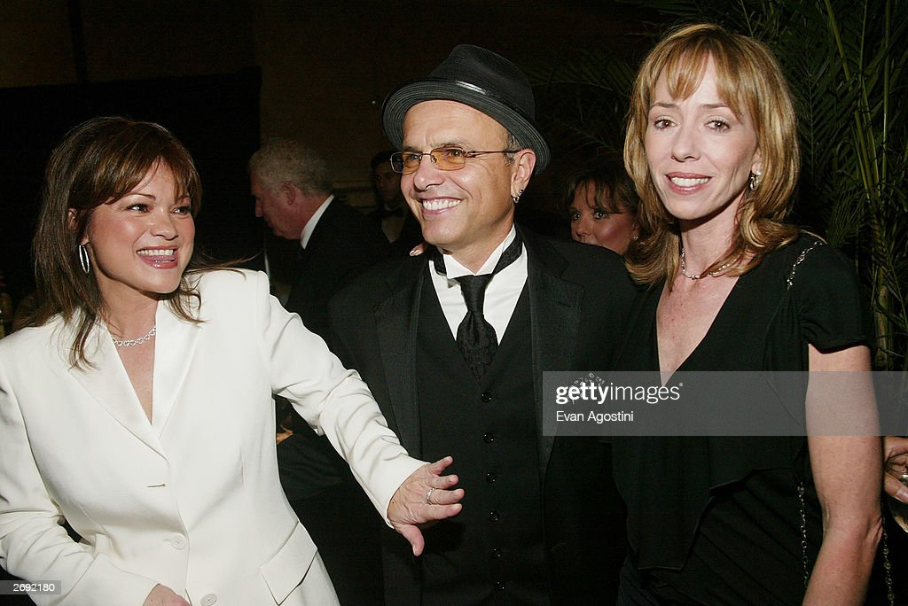 Actors Valerie Bertinelli, Joe Pantoliano and Mackenzie Phillips attends the cocktail party for the 'CBS at 75' television gala at the Hammerstein Ballroom November 2, 2003 in New York City.