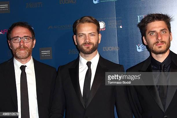 Actors Valerio Mastandrea Alessandro Borghi and Luca Marinelli attend the 11th Cinema Italian Style opening night screening of 'Don't Be Bad' held at...