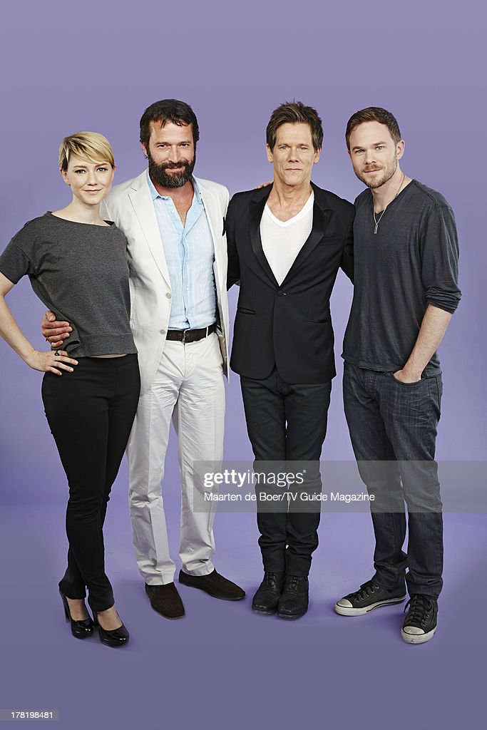 Actors Valorie Curry, James Purefoy, Kevin Bacon and Shawn Ashmore are photographed for TV Guide Magazine on July 19, 2013 on the TV Guide Magazine Yacht in San Diego, California. PUBLISHED IMAGE.