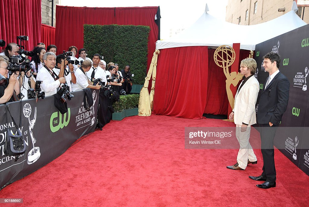 Actors Van Hansis (L) and Jake Silbermann arrive at the 36th Annual Daytime Emmy Awards at The Orpheum Theatre on August 30, 2009 in Los Angeles, California.
