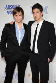 Actors Van Hansis and Jake Silbermann attend the 19th Annual GLAAD Media Awards at the Marriott Marquis on March 17 2008 in New York City