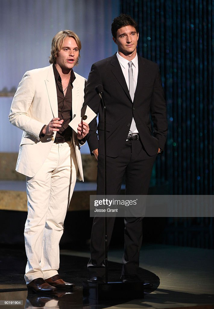 Actors Van Hansis and Jake Silbermann onstage at the 36th Annual Daytime Emmy Awards at The Orpheum Theatre on August 30, 2009 in Los Angeles, California.
