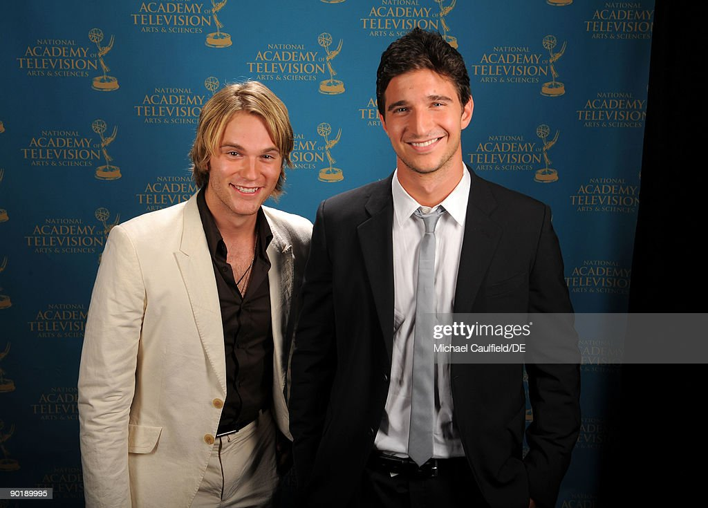 Actors Van Hansis and Jake Silbermann pose for a portrait at the 36th Annual Daytime Emmy Awards at The Orpheum Theatre on August 30, 2009 in Los Angeles, California.