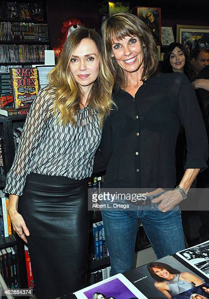 Actors Vanessa Angel and Alexandra Paul at the Second Annual David DeCoteau's Day Of The Scream Queens held at Dark Delicacies Bookstore on January...