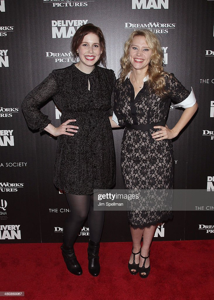 Actors <a gi-track='captionPersonalityLinkClicked' href=/galleries/search?phrase=Vanessa+Bayer&family=editorial&specificpeople=7346101 ng-click='$event.stopPropagation()'>Vanessa Bayer</a> and Kate McKinnon attend the DreamWorks Pictures and The Cinema Society screening of 'Delivery Man' at Paley Center For Media on November 17, 2013 in New York City.
