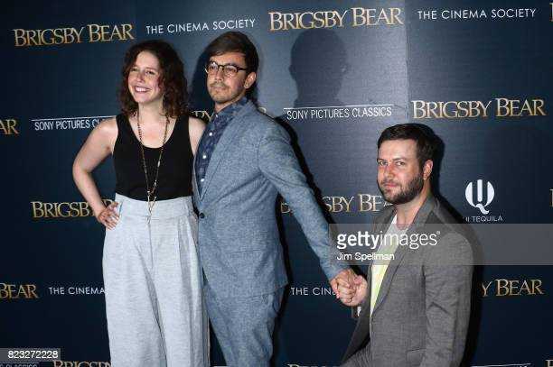 Actors Vanessa Bayer Jorma Taccone and Taran Killam attend the screening of 'Brigsby Bear' hosted by Sony Pictures Classics and The Cinema Society at...