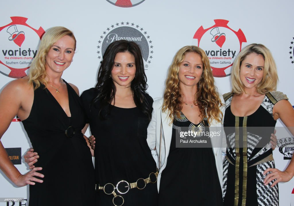 Actors Vanessa Cater, Katrina Law, Ellen Hollman and Anna Hutchison attend the 4th annual Variety's Texas Hold 'Em poker tournament at to benefit 'The Children's Charity Of Southern California' at Paramount Studios on July 16, 2014 in Hollywood, California.