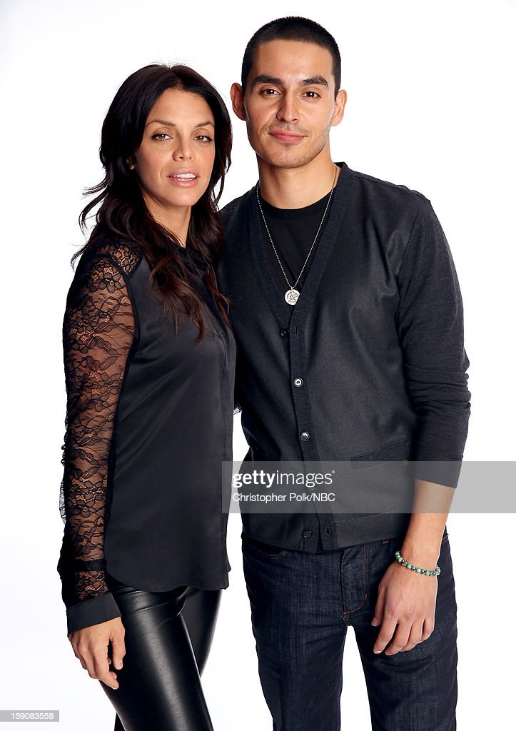 Actors <a gi-track='captionPersonalityLinkClicked' href=/galleries/search?phrase=Vanessa+Ferlito&family=editorial&specificpeople=226854 ng-click='$event.stopPropagation()'>Vanessa Ferlito</a> (L) and Manny Montana attend the 2013 Winter TCA Tour- Day 4 at The Langham Huntington Hotel and Spa on January 7, 2013 in Pasadena, California.