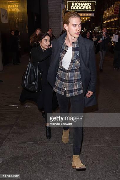 Actors Vanessa Hudgens and Austin Butler are seen in Midtown on March 24 2016 in New York City