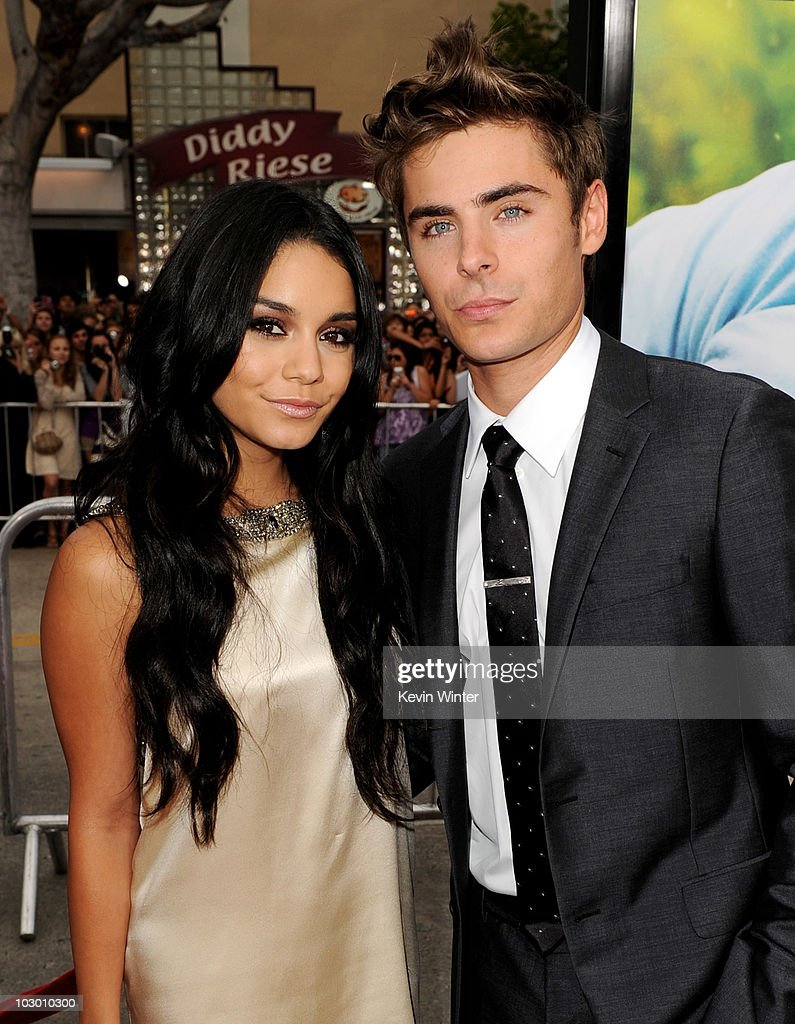 Actors Vanessa Hudgens (L) and Zac Efron arrive at the premiere of Universal Pictures' 'Charlie St. Cloud' at the Village Theater on July 20, 2010 in Los Angeles, California.