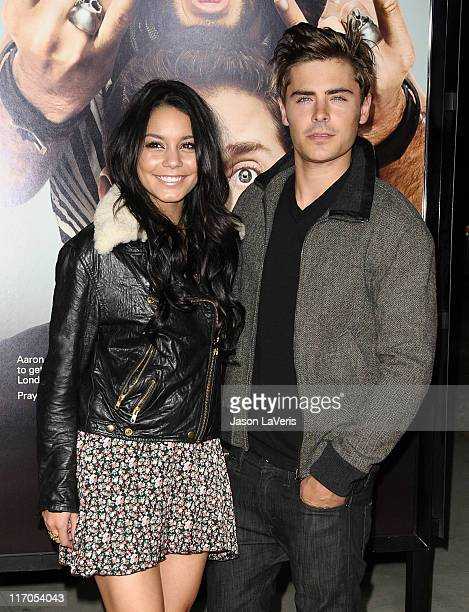 Actors Vanessa Hudgens and Zac Efron attend the premiere of 'Get Him To The Greek' at The Greek Theatre on May 25 2010 in Los Angeles California
