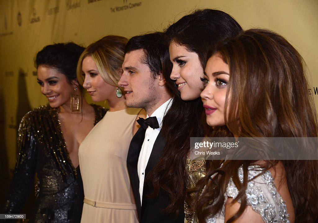 Actors Vanessa Hudgens, Ashley Tisdale, Josh Hutcherson, Selena Gomez and Sarah Hyland attend The Weinstein Company's 2013 Golden Globe Awards after party presented by Chopard, HP, Laura Mercier, Lexus, Marie Claire, and Yucaipa Films held at The Old Trader Vic's at The Beverly Hilton Hotel on January 13, 2013 in Beverly Hills, California.