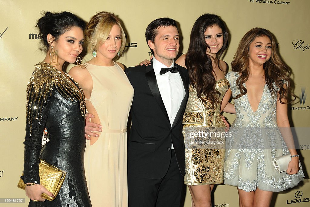 Actors Vanessa Hudgens, Ashley Tisdale, Josh Hutcherson, Selena Gomez and Sarah Hyland attend The Weinstein Company's 2013 Golden Globes After Party held at The Old Trader Vic's in The Beverly Hilton Hotel on January 13, 2013 in Beverly Hills, California.