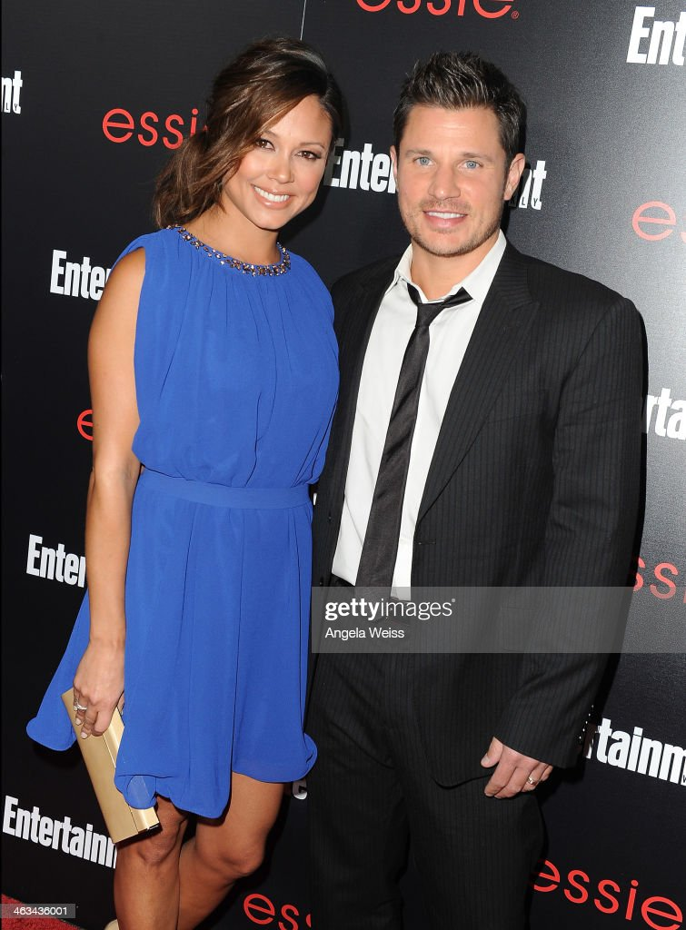 Actors Vanessa Lachey (L) and <a gi-track='captionPersonalityLinkClicked' href=/galleries/search?phrase=Nick+Lachey&family=editorial&specificpeople=201832 ng-click='$event.stopPropagation()'>Nick Lachey</a> attend the Entertainment Weekly celebration honoring this year's SAG Awards nominees sponsored by TNT & TBS and essie at Chateau Marmont on January 17, 2014 in Los Angeles, California.