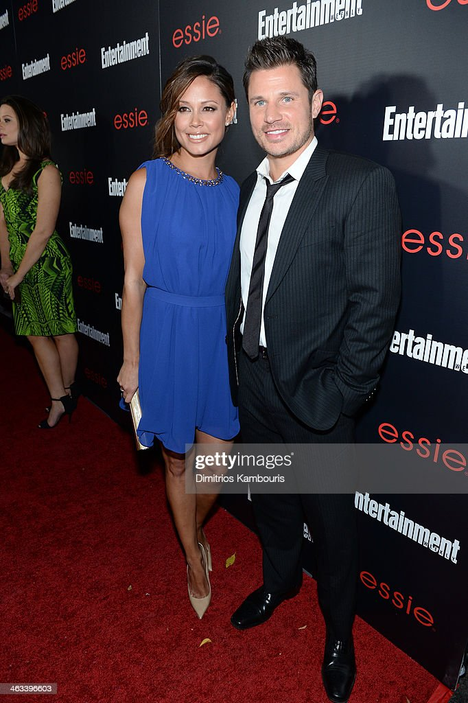 Actors Vanessa Lachey (L) and <a gi-track='captionPersonalityLinkClicked' href=/galleries/search?phrase=Nick+Lachey&family=editorial&specificpeople=201832 ng-click='$event.stopPropagation()'>Nick Lachey</a> attends the Entertainment Weekly celebration honoring this year's SAG Awards nominees sponsored by TNT & TBS and essie at Chateau Marmont on January 17, 2014 in Los Angeles, California.