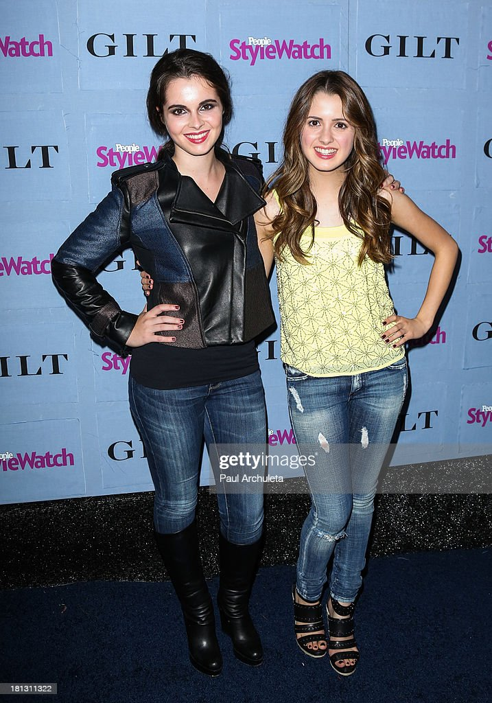 Actors Vanessa Marano (L) and Laura Marano (R) attend the People StyleWatch 3rd annual Denim Issue party at Palihouse on September 19, 2013 in West Hollywood, California.