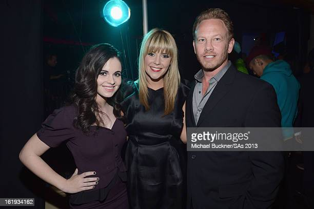 Actors Vanessa Marano Grace Helbig and Ian Ziering attend the 3rd Annual Streamy Awards at Hollywood Palladium on February 17 2013 in Hollywood...