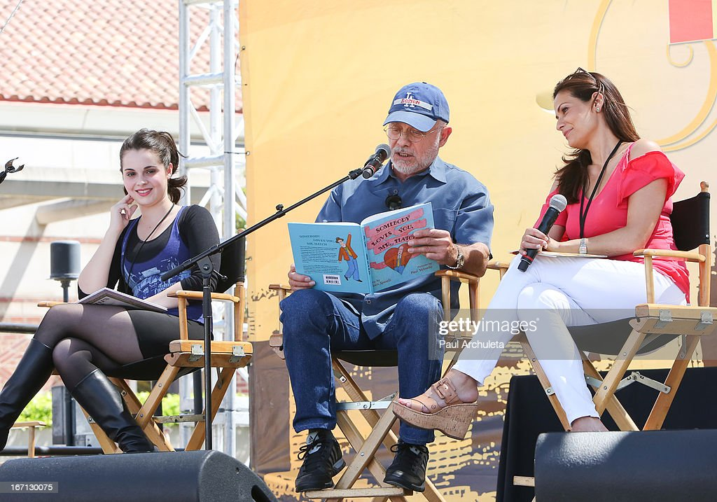 Actors Vanessa Marano, Hector Elizondo and Constance Marie attend the 18th annual Los Angeles Times Festival Of Books - Day 1 at USC on April 20, 2013 in Los Angeles, California.