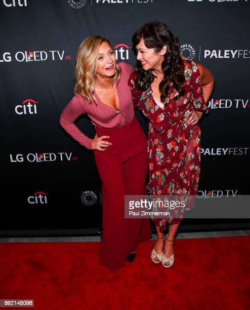 Actors Vanessa Ray and Marisa Ramirez attend PaleyFest NY 2017 'Blue Bloods' at The Paley Center for Media on October 16 2017 in New York City