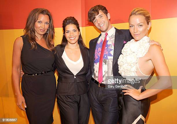 Actors Vanessa Williams America Ferrera Michael Urie and Becki Newton attend Timestalks An Evening With Ugly Betty at TheTimesCenter on October 12...