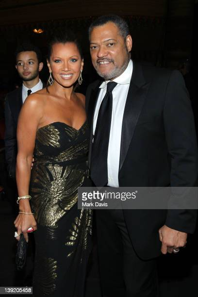 Actors Vanessa Williams and Laurence Fishburne attend the 43rd NAACP Image Awards held at The Shrine Auditorium on February 17 2012 in Los Angeles...