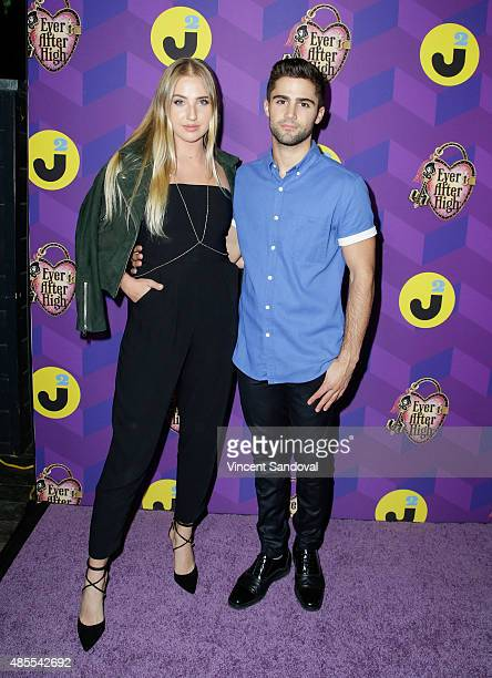 Actors Veronica Dunne and Max Ehrich attend Just Jared's Way To Wonderland presented by Ever After High at Greystone Manor Supperclub on August 27...