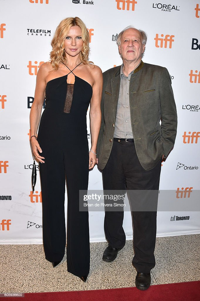 Actors Veronica Ferres (L) and Werner Herzog attend the 'Salt and Fire' premiere during the 2016 Toronto International Film Festival at The Elgin on September 15, 2016 in Toronto, Canada.