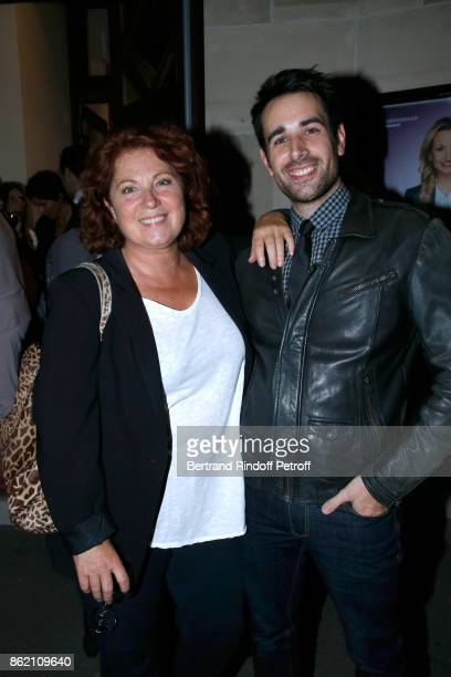 Actors Veronique Genest and Nicolas Le Guen attend the One Woman Show by Christelle Chollet for the Inauguration of the Theatre de la Tour Eiffel...