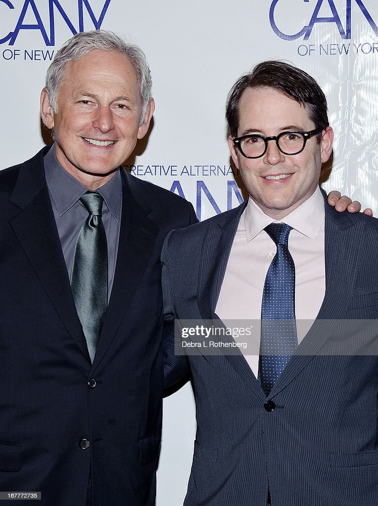 Actors <a gi-track='captionPersonalityLinkClicked' href=/galleries/search?phrase=Victor+Garber&family=editorial&specificpeople=208795 ng-click='$event.stopPropagation()'>Victor Garber</a> and <a gi-track='captionPersonalityLinkClicked' href=/galleries/search?phrase=Matthew+Broderick&family=editorial&specificpeople=201912 ng-click='$event.stopPropagation()'>Matthew Broderick</a> attend The Pearl Gala 2013 at The Edison Ballroom on April 29, 2013 in New York City.