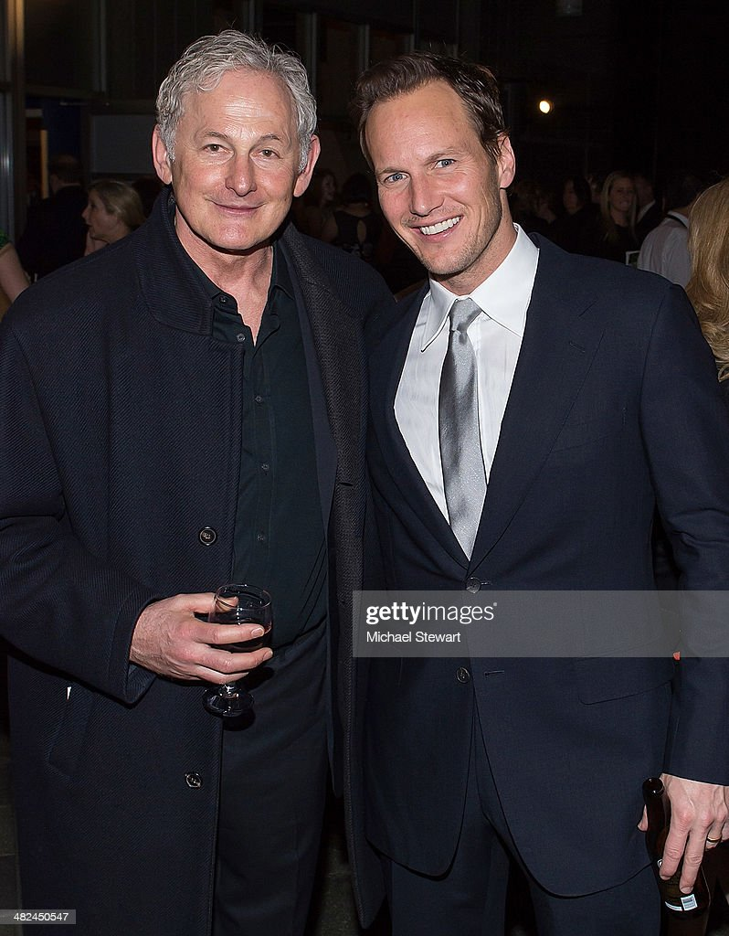 Actors <a gi-track='captionPersonalityLinkClicked' href=/galleries/search?phrase=Victor+Garber&family=editorial&specificpeople=208795 ng-click='$event.stopPropagation()'>Victor Garber</a> (L) and <a gi-track='captionPersonalityLinkClicked' href=/galleries/search?phrase=Patrick+Wilson+-+Actor&family=editorial&specificpeople=14726270 ng-click='$event.stopPropagation()'>Patrick Wilson</a> attend 'Guys And Dolls' after party at Remi on April 3, 2014 in New York City.