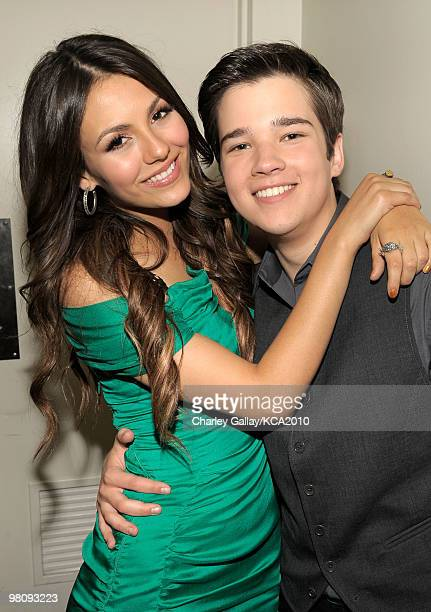 COVERAGE** Actors Victoria Justice and Nathan Kress attend Nickelodeon's 23rd Annual Kids' Choice Awards held at UCLA's Pauley Pavilion on March 27...