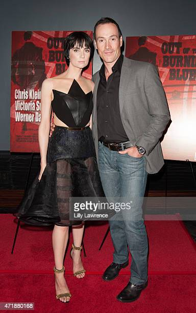 Actors Victoria Summer and Chris Klein arrive at 'Out Of The Burning Blue' special cast screening and party at Avalon on May 1 2015 in Hollywood...