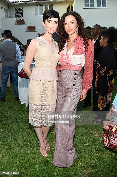 Actors Victoria Summer and Sofia Milos attend Tea With Victoria Summer at British Consulate General Residence To Benefit Teen Cancer America on...