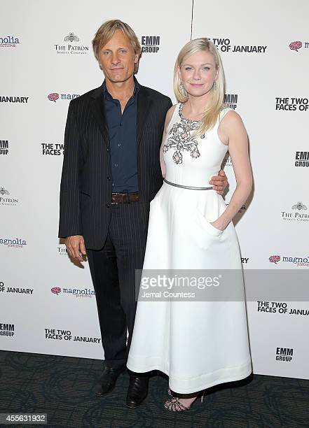 Actors Viggo Mortensen and Kirsten Dunst attend the 'The Two Faces Of January' New York Premiere at Landmark's Sunshine Cinema on September 17 2014...