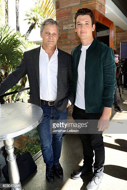 Actors Viggo Mortensen and Miles Teller attend the Indie Contenders Reception hosted in the Audi Sky Lounge at AFI Fest 2016 presented by Audi at...