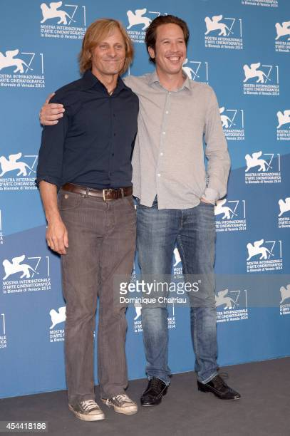Actors Viggo Mortensen and Reda Kateb attend the 'Loin Des Hommes' photocall during the 71st Venice Film Festival on August 31 2014 in Venice Italy