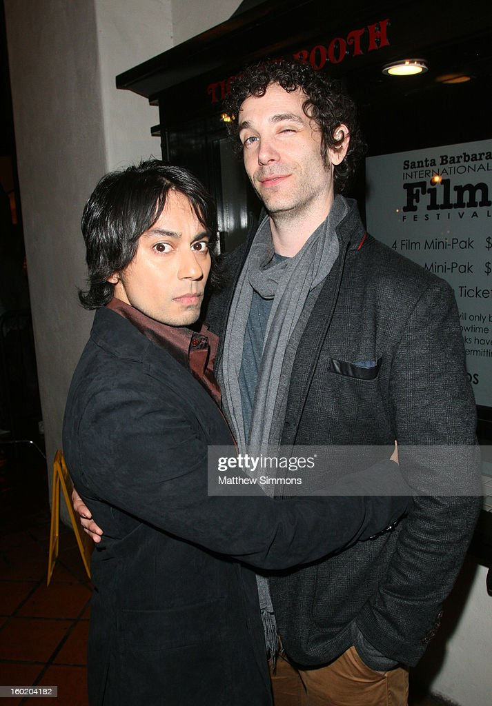Actors Vik Sahay and Jonas Chernick attends the premiere of 'My Awkward Sexual Adventure' at the Metro 4 Theatre during the 28th Santa Barbara International Film Festival on January 25, 2013 in Santa Barbara, California.