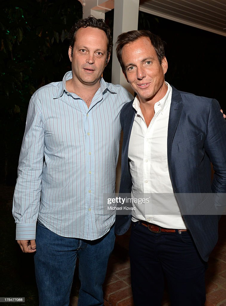 Actors <a gi-track='captionPersonalityLinkClicked' href=/galleries/search?phrase=Vince+Vaughn&family=editorial&specificpeople=182440 ng-click='$event.stopPropagation()'>Vince Vaughn</a> (L) and <a gi-track='captionPersonalityLinkClicked' href=/galleries/search?phrase=Will+Arnett&family=editorial&specificpeople=209259 ng-click='$event.stopPropagation()'>Will Arnett</a> attend the 87th birthday celebration of Tony Bennett and fundraiser for Exploring the Arts, the charity organization founded by Mr. Bennett and wife Susan Benedetto, hosted by Ted Sarandos & Nicole Avant Sarandos among celebrity friends and family on August 3, 2013 in Beverly Hills, California.