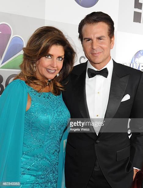 Actors Vincent DePaul and Elizabeth Webster attend the Universal NBC Focus Features E sponsored by Chrysler viewing and after party with Gold Meets...