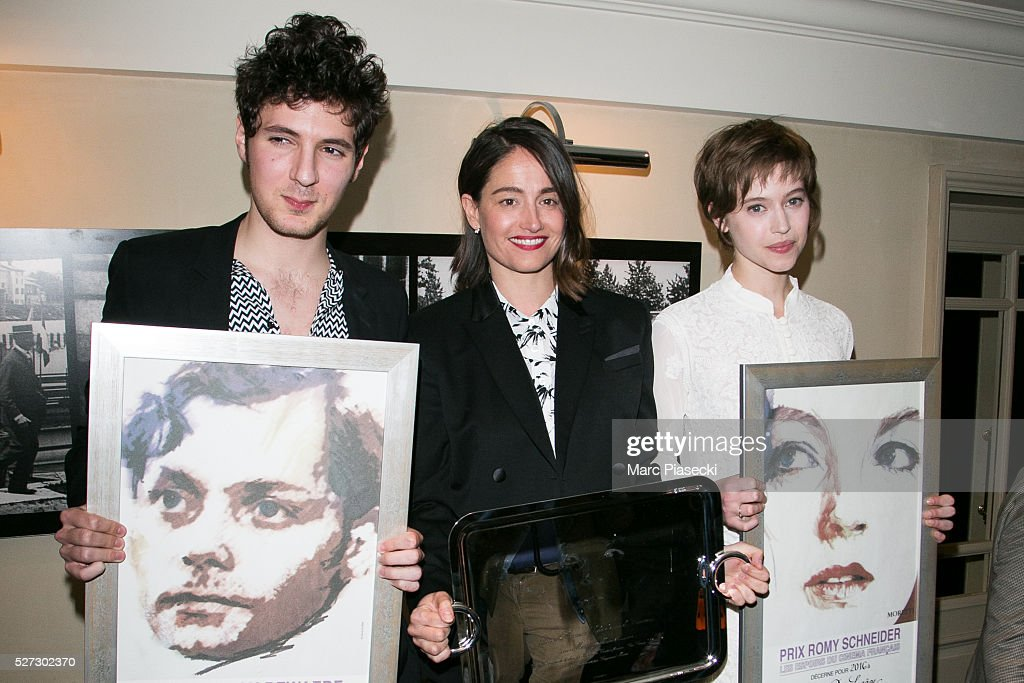 Actors Vincent Lacoste, Marie Gillain and Lou De Laage attend the 'Romy Schneider & Patrick Dewaere' award ceremony 2016 at Hotel Scribe on May 2, 2016 in Paris, France.