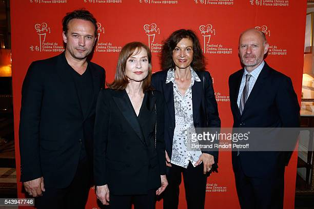 Actors Vincent Perez Isabelle Huppert Director Anne Fontaine and President of Unifrance JeanPaul Salome arrive at the 6th Chinese Film Festival...