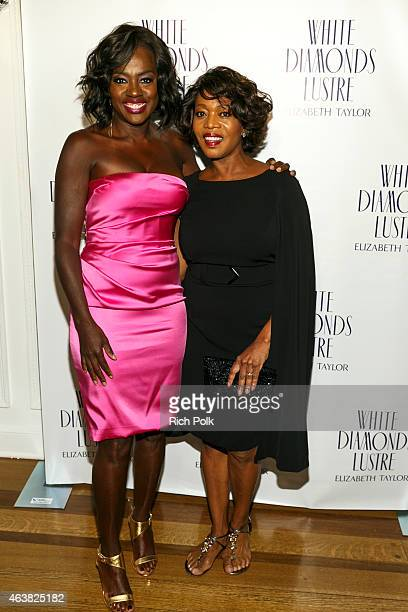 Actors Viola Davis and Alfre Woodard arrive at the Alfre Woodard's Oscar's Sistahs Soiree by White Diamond Lustre Elizabeth Taylor at the Beverly...