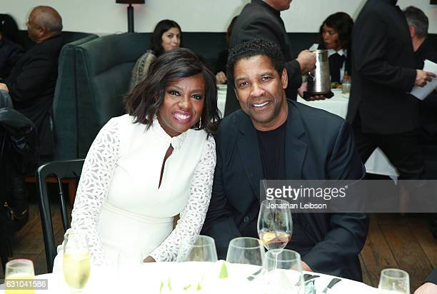 Actors Viola Davis and Denzel Washington attend the Viola Davis Walk Of Fame Ceremony Luncheon at Spago on January 5 2017 in Hollywood California