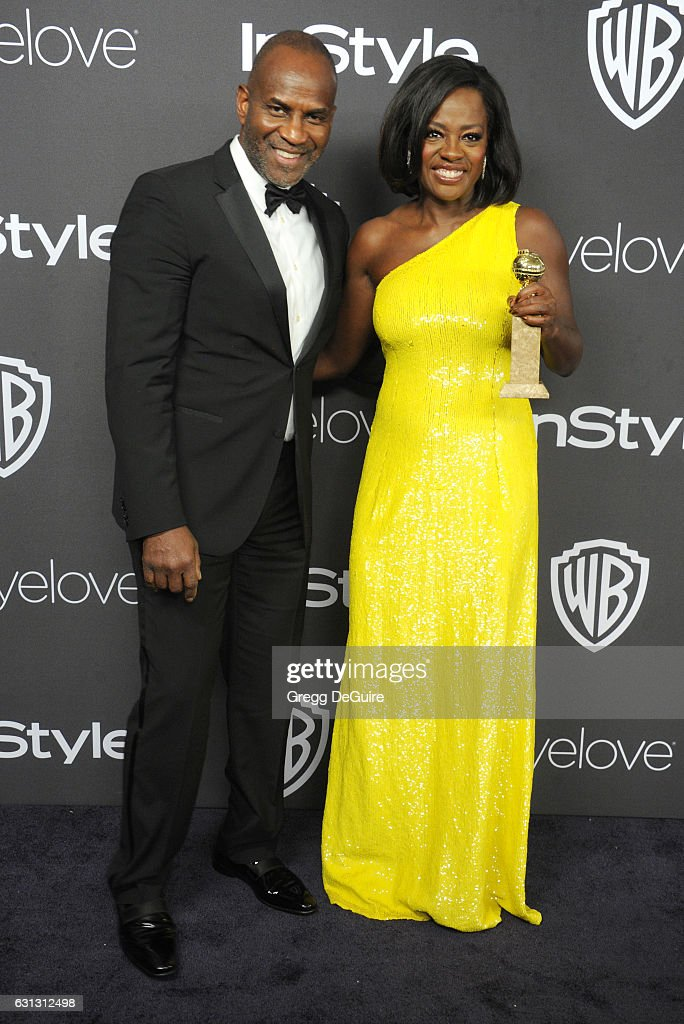 Actors Viola Davis and husband Julius Tennon arrive at the 18th Annual Post-Golden Globes Party hosted by Warner Bros. Pictures and InStyle at The Beverly Hilton Hotel on January 8, 2017 in Beverly Hills, California.