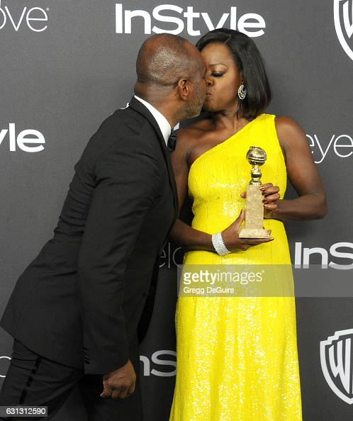 Actors Viola Davis and husband Julius Tennon arrive at the 18th Annual PostGolden Globes Party hosted by Warner Bros Pictures and InStyle at The...