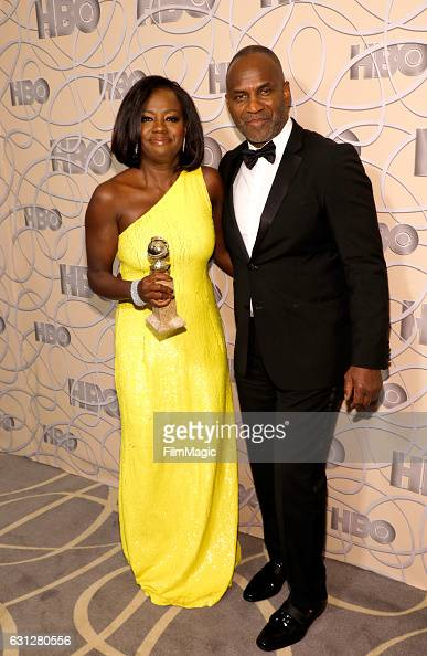 Actors Viola Davis and Julius Tennon attend HBO's Official Golden Globe Awards After Party at Circa 55 Restaurant on January 8 2017 in Beverly Hills...