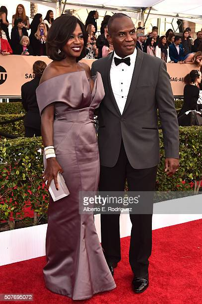 Actors Viola Davis and Julius Tennon attend the 22nd Annual Screen Actors Guild Awards at The Shrine Auditorium on January 30 2016 in Los Angeles...