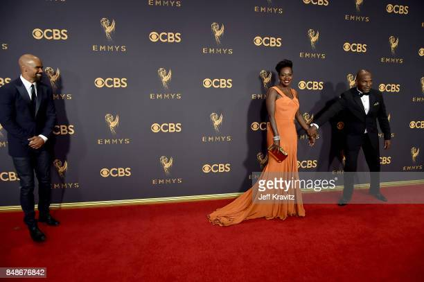 Actors Viola Davis and Julius Tennon attend the 69th Annual Primetime Emmy Awards at Microsoft Theater on September 17 2017 in Los Angeles California