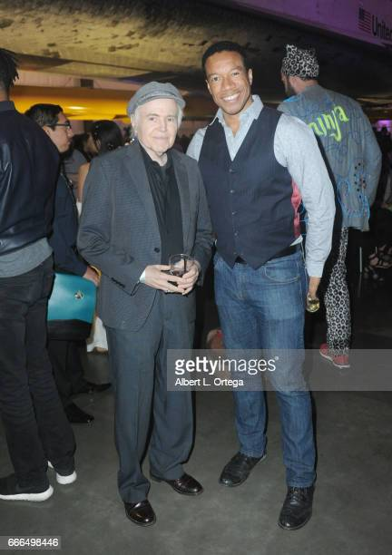 Actors Walter Koenig and Rico E Anderson attend Yuri's Night LA held on April 8 2017 in Los Angeles California